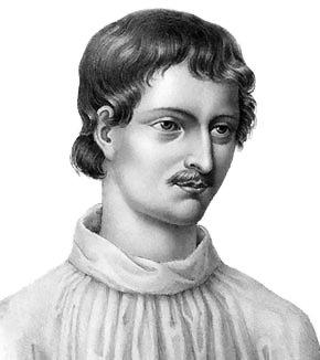 "Giordano Bruno – Portrait from ""Livre du recteur"""