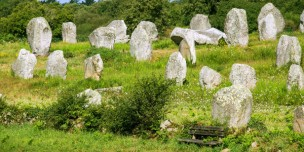 Standing stones at Carnac, Brittany. Photo by duchy, courtesy of Shutterstock.