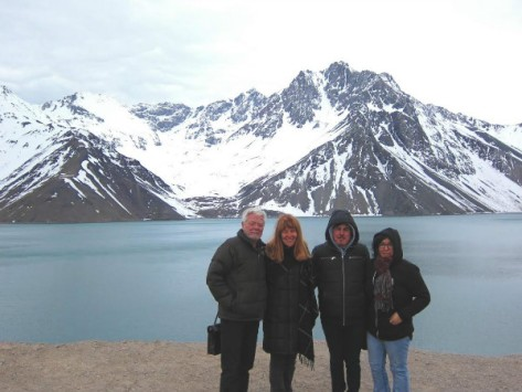 Junto con Vivianne y Chris Crowley durante su visita a Santiago-Chile en septiembre de 2016