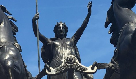 """Boadicea and Her Daughters"" Statue in London"