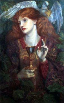 Le Saint Graal, Dante Gabriel Rossetti, 1874